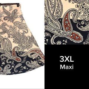 LuLaRoe Paisley maxi skirt 3XL